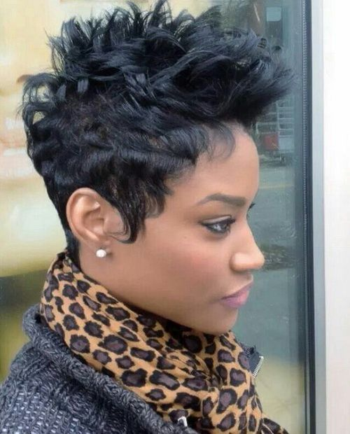 Superb Funky Short Haircuts Black Women And Haircuts On Pinterest Short Hairstyles For Black Women Fulllsitofus