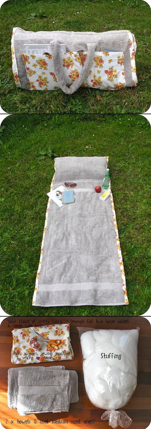 2 in 1 beach bag towel with tutorial crafty. Black Bedroom Furniture Sets. Home Design Ideas