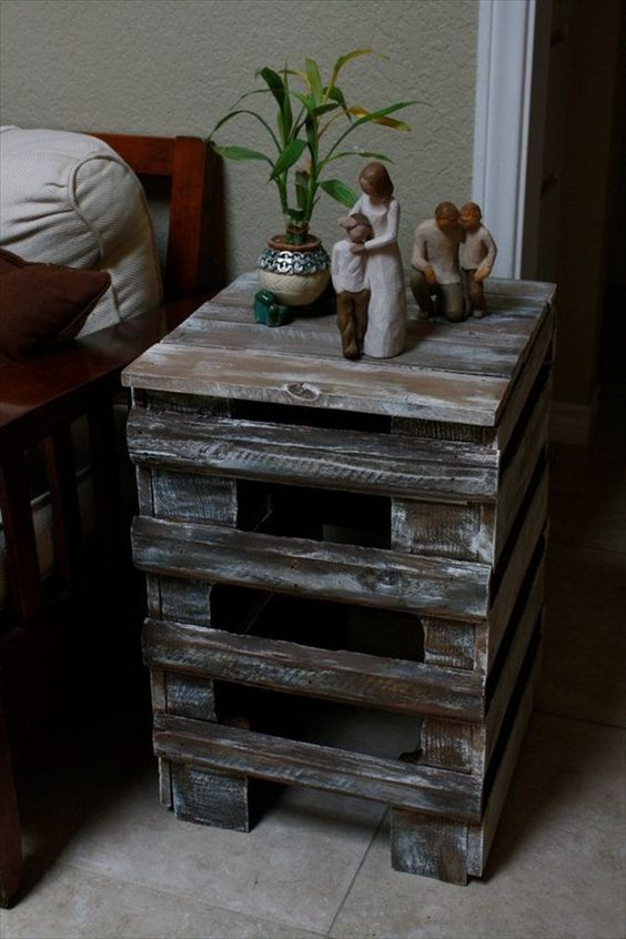 Appreciating Ideas for a perfect Pallet end table jess n scott