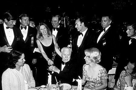 """""""Academy Awards: 44th Annual,"""" Cloris Leachman, Gene Hackman, Charlie Chaplin.  1972."""