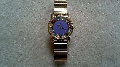 LADY'S  VINTAGE VENICE ELITE SWISS MOVT VIOLET PAINTED GLASS WATCH NEW BATTERY https://t.co/2PW75OnfQZ https://t.co/KfiEA1iAaF