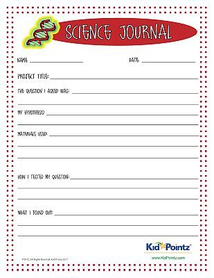Science Journal Worksheet for kids science experiments | Science ...