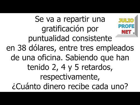 Reparto Proporcional Inverso Youtube Ejercicios Matematicos Secundaria Educacion Matematicas Matematicas