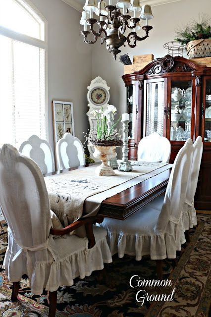 common ground : A Winter Dining Room in Neutrals