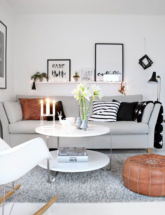 10 ideas to decorate your small living room in your rented Small family room ideas