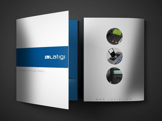 Presentation Folder Design for Latigi - Full Service Marketing - resume presentation folder