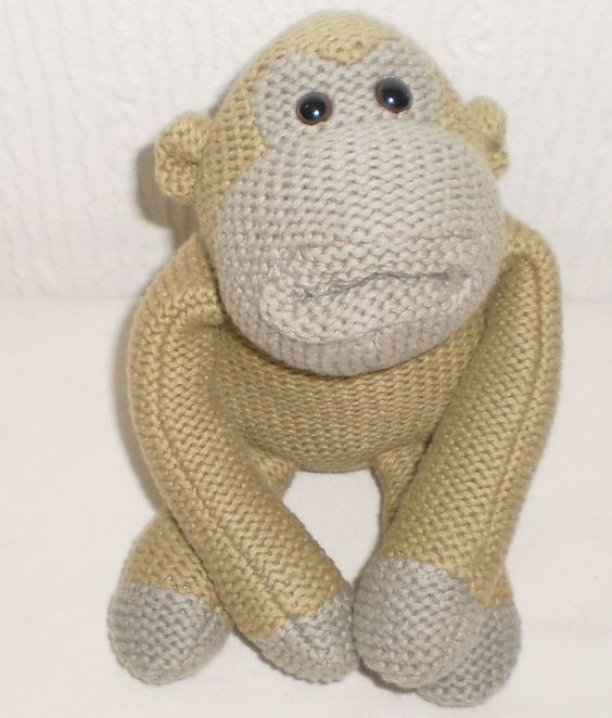 PG Tips Tea Knitted Green and Grey Monkey Beanie Soft Toy Collectable