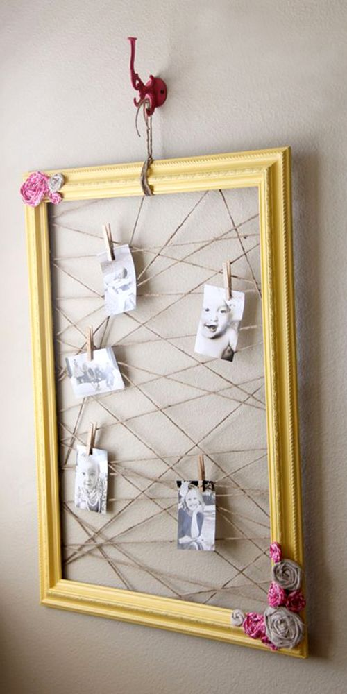 Repurposed Frame Diy Picture Frames Diy Photo Frames Picture