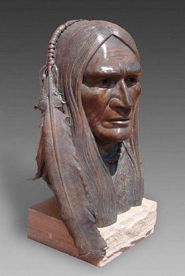 "Eagle Feather by Robert A. Larum (sculptor) Bronze 15"" Meyer Gallery"
