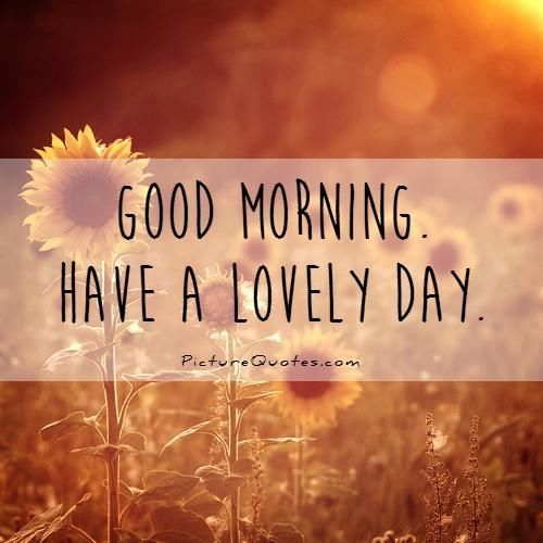 Good Morning, Have A Lovely Day morning good morning