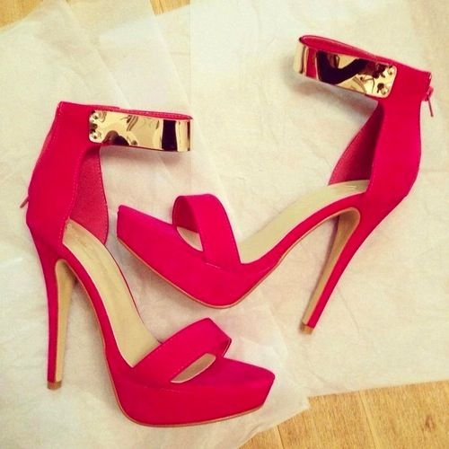 Red And Gold Heels  Tsaa Heel