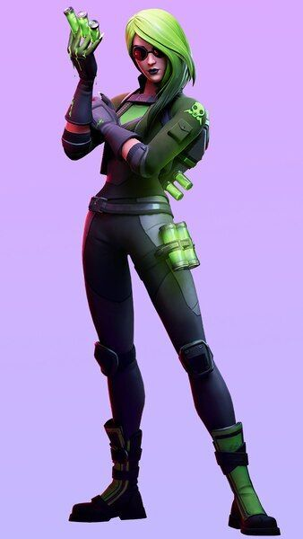 Fortnite Chapter 2 Remedy Vs Toxin Season 1 Battle Pass Skin