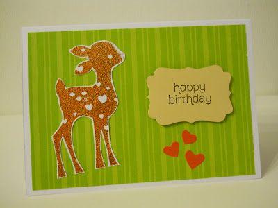 Ein Reh steht allein im Wald / birthday card for kids