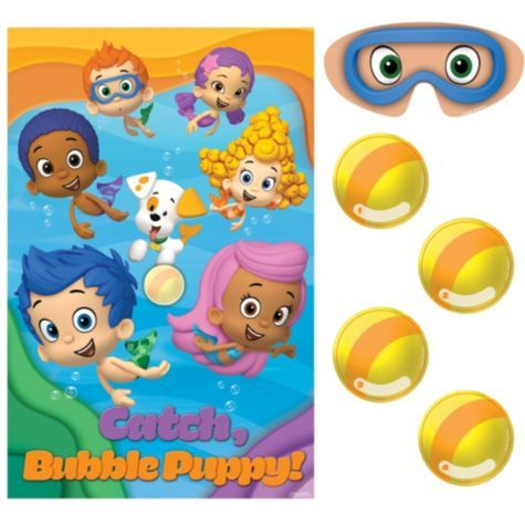 Bubble Guppies Party Game 10pc - Party City