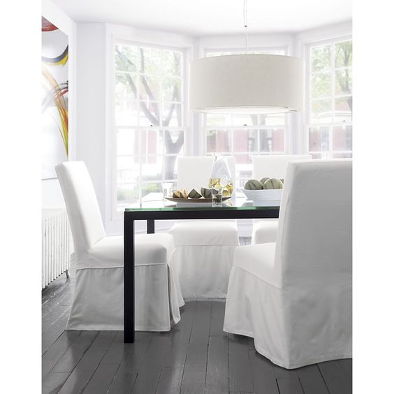 west elm parsons dining table review square white glass with natural dark steel base tables crate expandable reviews