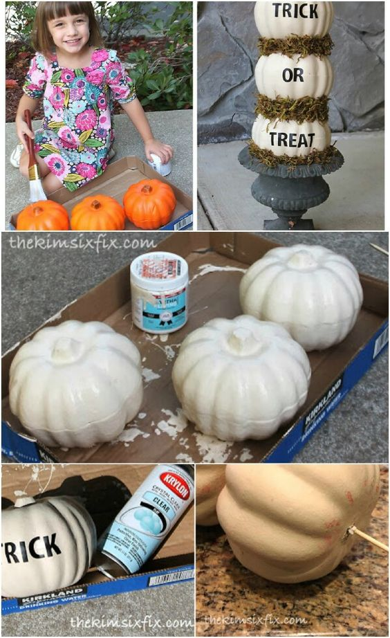 Whimsical Trick or Treat Pumpkins. …