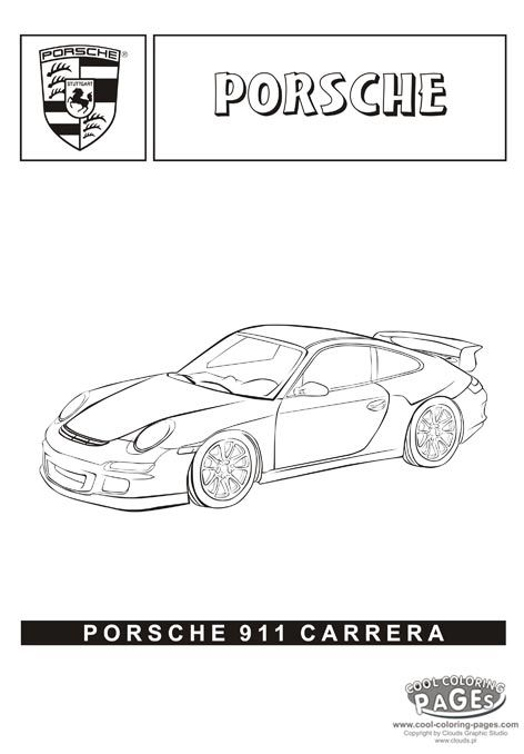 Porsche 911 Carrera Cars Coloring Pages Cars Coloring
