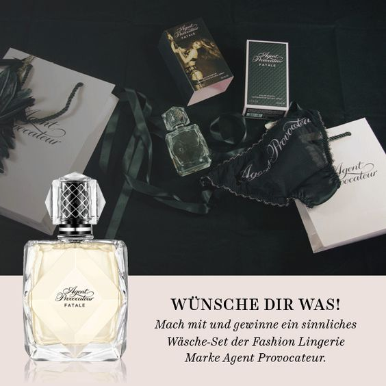 Setze den neuen Duft #FATALE auf deine Want-Liste und gewinne ein Wäsche-Set von #AgentProvocateur #Gewinnspiel https://www.beautylane.de/highlights/agent-provocateur/