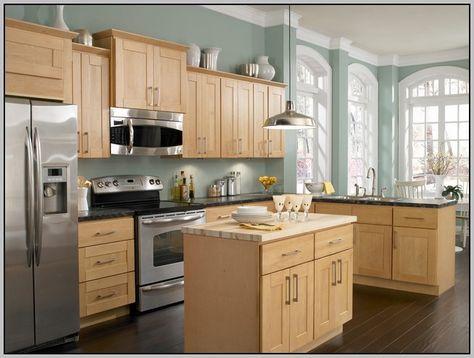 Kitchen Paint With Oak Cabinets Colour 37 Ideas For 2019 In 2020 Maple Kitchen Cabinets Light Wood Cabinets Light Oak Cabinets