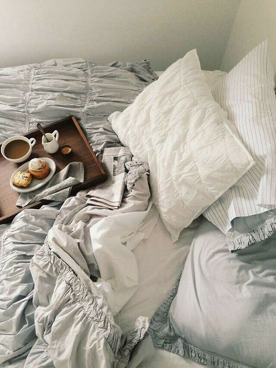 bed, bedroom, comfy, cute, food, good morning, morning, photography, tumblr