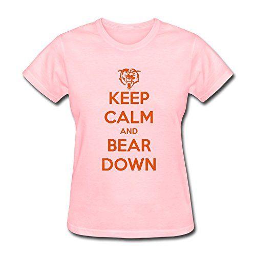 PCY Women's Create My Own Keep Calm Bear Down Best T-shirt S Pink