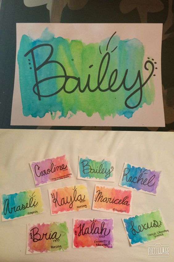 For dorm door, our names, unless you have other ideas for it I'm super open! (I just go deep into Pinterest when I have time to kill) -LS