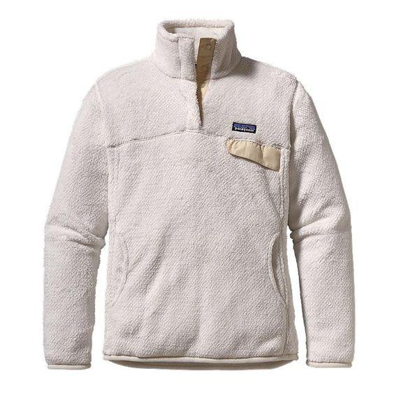 Patagonia Women\'s Re-Tool Snap-T\u00AE Fleece Pullover - Raw Linen - White X-Dye RWX-487