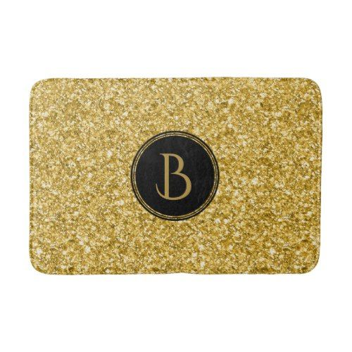 Gold Glitter Texture With Monogram