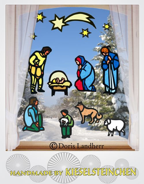 Laubsagevorlage Bel Fensterbild Christi Geburt