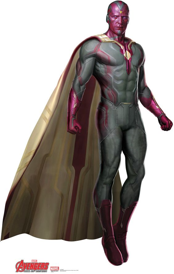 Avengers Age of Ultron Vision Cardboard Standup