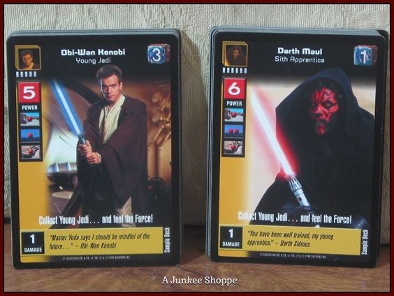 STAR WARS Young Jedi Collectible Card Game Promo Deck The Phantom Menace 1999   Junk 673  http://ajunkeeshoppe.blogspot.com/