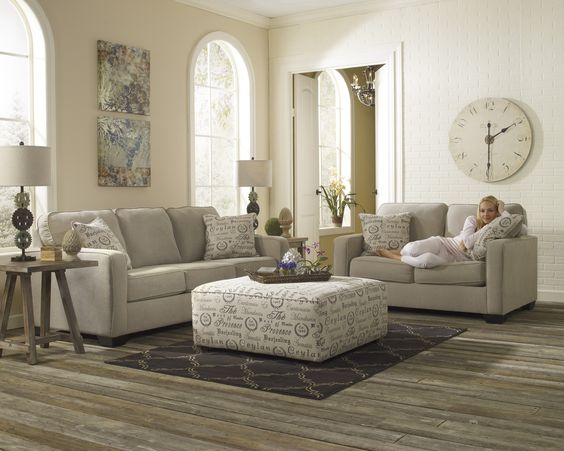 Transitional Calligraphy Accented Living Room   Arrow Furniture