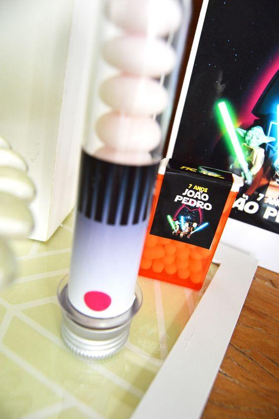 Rótulos tubete e tictac Festa Lego Star Wars | Design Festeiro