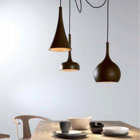 Candeeiro suspenso de teto ideal para salas de estar - Catalogo de luminarias para interiores ...