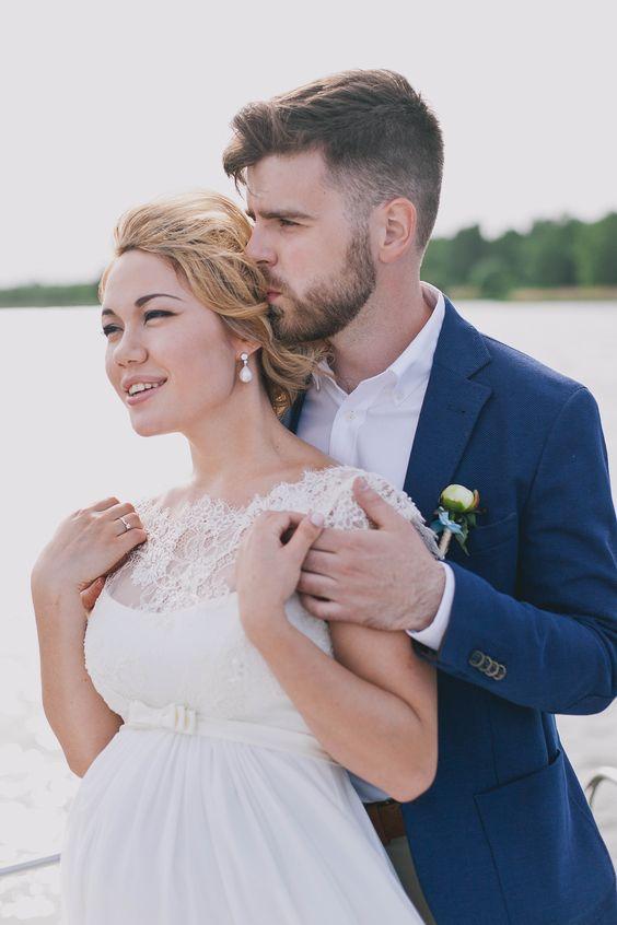 Hochzeit, Schwanger, Braut und Bräutigam