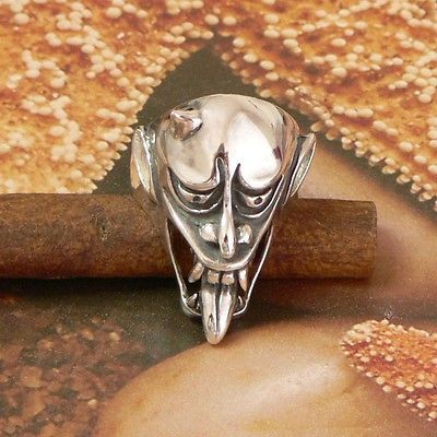 STERLING SILVER DEVIL MAKING FACES RING .925 / NICKEL FREE
