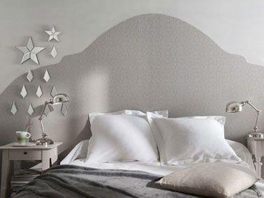 Faire une tête de lit avec du papier peint en déco chambre