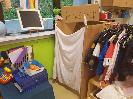 Het pashok: thema kleding / thema kledingwinkel