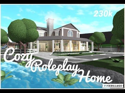 Roblox Bloxburg Cozy Roleplay Home Speed Build 230k No Large Plot Youtube Exterior Roleplay Roblox