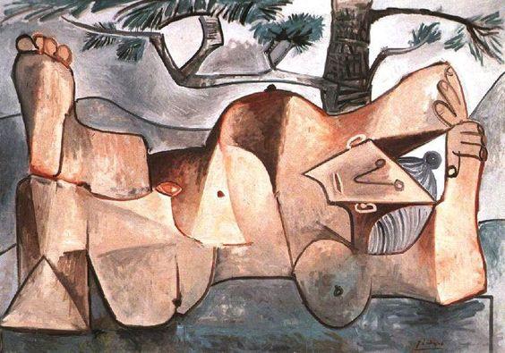 Desnudo bajo un pino, Pablo Picasso, 1959. Óleo sobre lienzo. Instituto de Arte de Chicago.