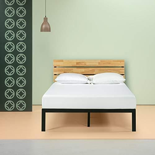 Zinus Paul Metal And Wood Platform Bed Wood Platform Bed