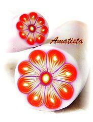 Murrina flor naranja-lila