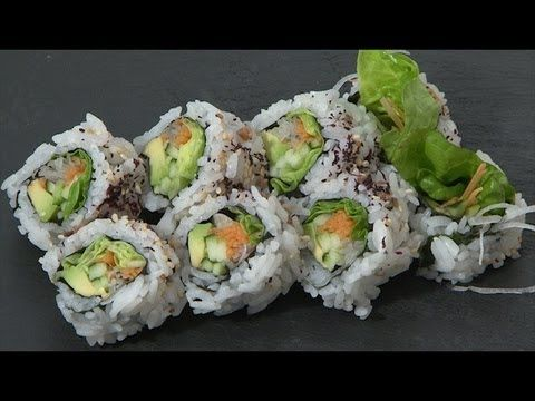Video receta como preparar maki vegetariano cocina for Como cocinar salmon