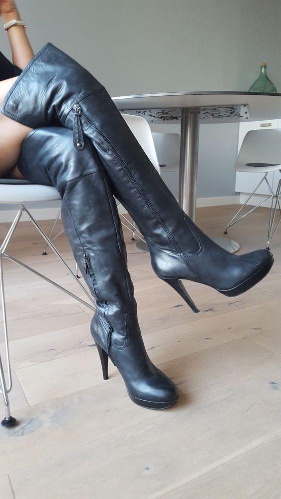 High Overknee StiefelStiefel High Leder Heel Heel IWD9H2E
