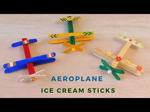 How To Make Ice Cream Stick Aeroplane Popsicle Stick Easy Crafts For Kids Youtube Animal Crafts For Kids Easy Crafts For Kids Crafts For Kids