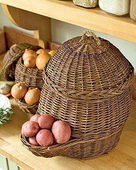 I just wish it wasn't so expensive. I want!!!: Onion Storage, Storage Baskets, Potato Onion, Storage Bins, Potato Storage, Onion Baskets
