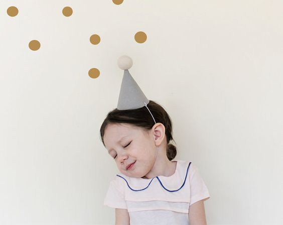 Party Hat  linen party hat in grey small by ColetteBream on Etsy, $18.00