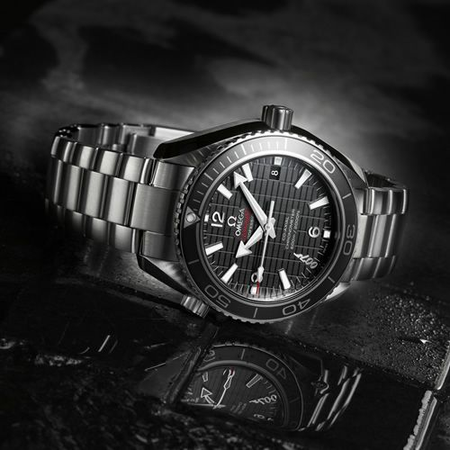 Omega Planet Ocean 600M Skyfall    Marking its seventh straight feature in a Bond movie, Omega celebrates the occasion with a limited edition watch, the Planet Ocean 600M Skyfall. Limited to 5007 pieces, the watch features a structured black dial, 007 logo at the 7 o'clock position, Co-Axial calibre 8507 movement, and Super-Luminova indexes.