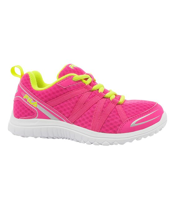 This FILA Hot Pink & Yellow Flyver Running Shoe by FILA is perfect! #zulilyfinds