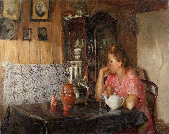 Tatyana Tolstaya (1929-2005) - The samovar, 1950
